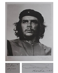 Photographer Alberto Korda Signs His Iconic Image of Che Guevara, Heroic Warrior -- Limited Edition Lithograph
