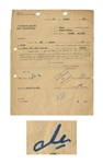 Che Guevara Document Signed From 1964 -- Revolutionarily