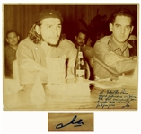 Che Guevara Signed Photo -- A souvenir photo to remember the resounding time / Che