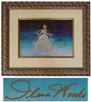 Disney Limited Edition Sericel From Cinderella -- Signed by the Actress Who Voiced Cinderella in the Original 1950 Film