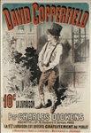 Large 19th Century Lithographic Poster of David Copperfield by Jules Cheret, Advertising the 1885 French Edition -- Measures 33.5 x 48