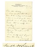 Franklin D. Roosevelt Autograph Letter Signed to Helena Mahoney, His Physical Therapist -- ...now we must pray for more patients so as to prove to the Doctors that we really have something!...