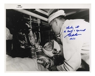 Gordon Cooper Signed 10 x 8 Photo From the Mercury-Atlas 9 Mission in 1963 -- The Last Mission of the Program