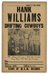 Extremely Rare Concert Poster for Hank Williams and his Drifting Cowboys From 1949