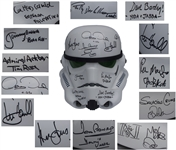Star Wars Cast-Signed Stormtrooper Helmet -- Signed by All Stars of Star Wars and The Empire Strikes Back, Including Carrie Fisher, Harrison Ford and Mark Hamill