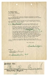 Humphrey Bogart 1947 Signed Agreement to Sell His Ford Truck