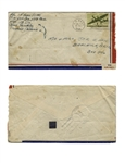 Ira Hayes Envelope Signed From 1944 During His WWII Service -- Postmarked Independence Day July 4, 1944