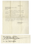 J.D. Salinger Letter Signed -- Salinger Recommends Bonnie B. Good for a Teaching Position