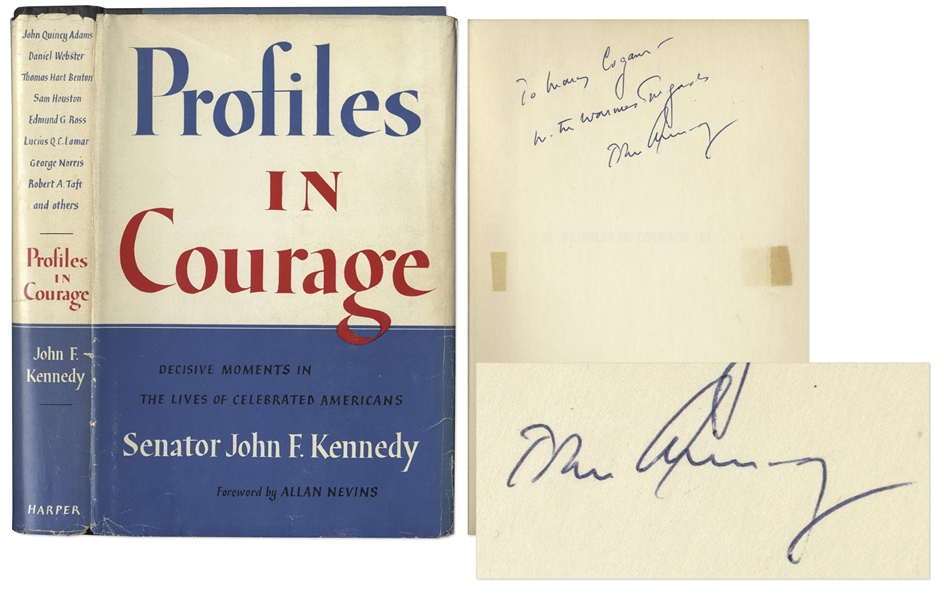 John F. Kennedy Signed ''Profiles in Courage'' -- With PSA/DNA COA