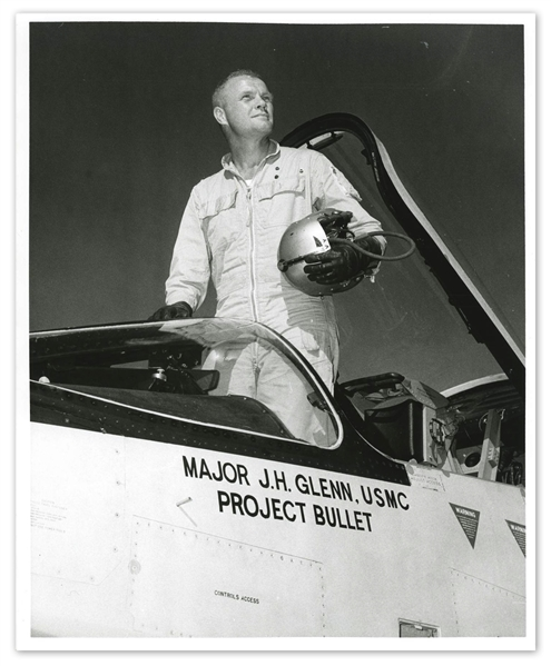 John Glenn's U.S. Navy Helmet Worn During Project Bullet -- The First Supersonic Transcontinental Flight Dubbed ''Faster Than a Bullet'' That Made Glenn a Celebrity & Led to His Selection in Mercury 7