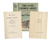First Edition, First Printing of Pulitzer Prize Novel, The Late George Apley -- Near Fine