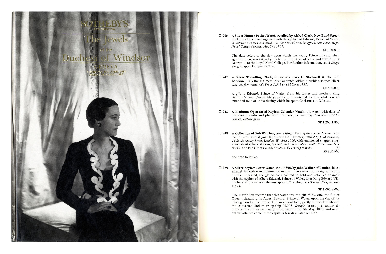 Item Detail - Duke & Duchess of Windsor Fob Swiss Watch -- Gorgeous ...