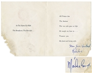 Malcolm X Signed Card to His Wife -- Nation of Islam Card Commemorates Saviours Day