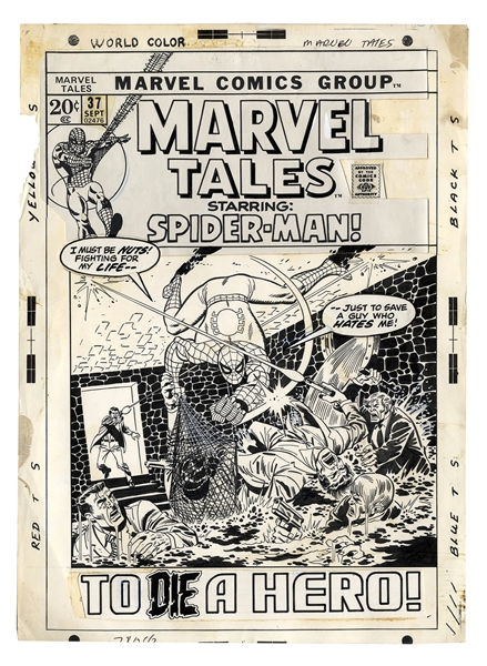 Original Cover Art for ''Marvel Tales Starring Spider-Man!'' by Sal Buscema