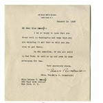 Eleanor Roosevelt Letter Signed From 1933 -- Eleanor Writes to Helena Mahoney, FDRs Personal Physical Therapist