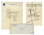 Neil Armstrong Letter Signed From 1970