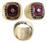 1983 North Carolina State NCAA Basketball Championship 10kt Ring -- From Wolfpack Player Harold Thompson for Whats Considered the Best College Basketball Championship Game Ever Played