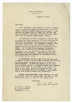 Orville Wright Letter Signed Regarding the 1908 Flyer & a Harvard Astronomers Prediction That Planes Would Never Surpass Cars in Speed -- ...Astronomers seem to be given to rash predictions...
