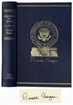 Ronald Reagan Signed Limited Edition of His Speeches, Speaking My Mind
