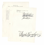 Legendary Jazz Singer Sarah Vaughan Contract Signed