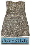Sheryl Crow Personally Owned & Worn Gold Sequined Party Dress by Alice + Olivia