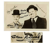 Stan Laurel Signed Photo of the Laurel & Hardy Comedy Duo