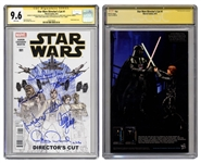 Star Wars Directors Cut #1 Signed by Harrison Ford, Mark Hamill, Carrie Fisher, Peter Mahew, Anthony Daniels, David Prowse and Kenny Baker -- CGC Graded 9.6