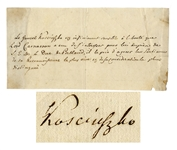 Tadeusz Kosciuszko Autograph Letter Signed -- ...The General Kosciuszko is extremely sensitive to Lord Carnarvons kindness...