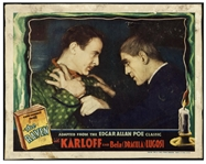 Edgar Allan Poes The Raven Lobby Card From Universals Classic 1935 Film Starring Horror Icons Boris Karloff & Bela Lugosi
