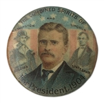 Theodore Roosevelt Ghost Button From the 1904 Presidential Campaign -- Scarce