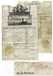 Thomas Jefferson Ships Papers Signed as President -- Countersigned by James Madison