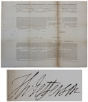 Thomas Jefferson Document Signed as President -- 4-Language Ships Papers Also Signed by James Madison
