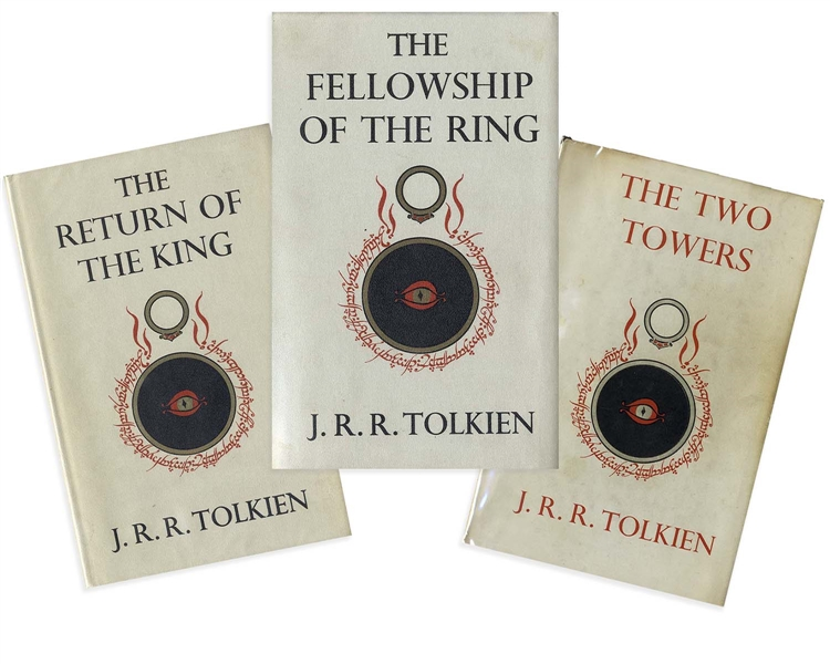 First Edition Set of J.R.R. Tolkien's ''Lord of the Rings'' -- A Complete Second Impression Set in Their Original Dust Jackets, With Maps Present