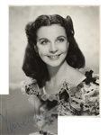 Vivien Leigh Signed Photo as Scarlett OHara in Gone With the Wind -- Photo Measures 7.75 x 9.5