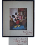 Walt Disney Signed Print of Mickey Mouse -- With Phil Sears COA