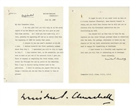Winston Churchill Letter Signed, Marked Confidential by Him Regarding His WWII Memoir -- ...this work will, if I live...be appearing off and on in serial form from the beginning of 1948...