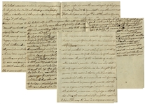 Moving Anti-Slavery Essay Circa 1796, Entitled Against the Slave Trade -- ...How takeing him in a deceitfull manner under the cloak of friendship & confineing him in chains...