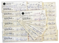 Lot of 25 Bubba Smith Signed Checks