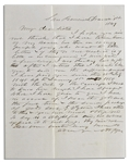1849 California Gold Prospector Autograph Letter Signed -- ...I hope that you will not think that I have taken leave of my senses...the small package of gold sent...