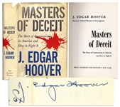 J. Edgar Hoover Masters of Deceit Signed