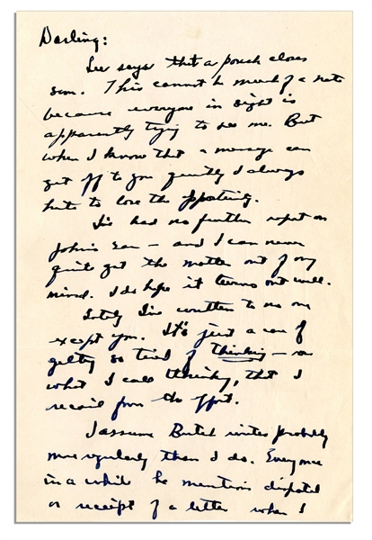 Dwight Eisenhower WWII Autograph Letter Signed -- ''...An advance copy of Sat. Eve Post of 3 Oct just arrived. Has quite an article about me & my family...''