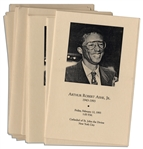 Lot of Programs From Arthur Ashes Funeral