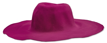 Alicia Keys Worn Fuchsia Floppy Hat by Designer Emma Fielden -- With a COA From the Singer