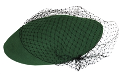 Alicia Keys Worn Green & Black Lace Beret -- With a COA From Keys