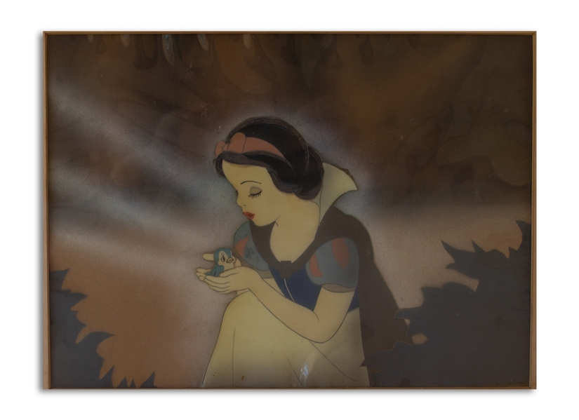 Original ''Snow White and the Seven Dwarfs'' Cel -- Featuring Snow White Holding the Bluebird