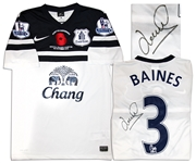 Leighton Baines Match-Worn Everton Football Shirt Signed