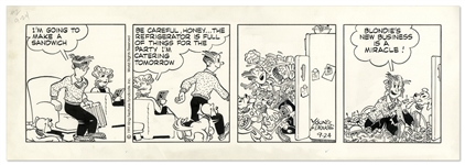 Blondie Comic Strip From 1991 -- Blondies First Catering Party Is About to Happen