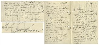Herbert Hoover Autograph Letter Signed as a Mining Executive -- ...thus getting the effective control entirely into our hands...
