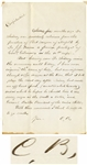 Clara Barton Autograph Letter Signed -- Writing Approvingly of a Surgeon, ...he hoped he should live to see every negro in the south a voter...
