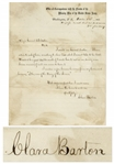 Clara Barton Autograph Letter Signed to General Benjamin Butler, Shortly After the End of the Civil War -- ...I, too, was of the Army of the James...